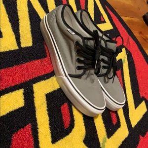 Vans grey m 8.5 w 10